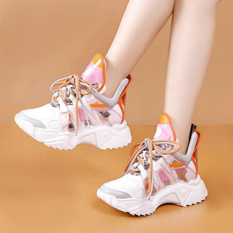 Новинка лета 2021, Женская сетчатая обувь в стиле интернет-знаменитостей, дышащая спортивная обувь, повседневная женская обувь, цветная обувь