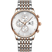Fashion Stainless Steel Men Watches Luxury Brand Waterproof Luminous Chronograph Quartz Pilot Watch