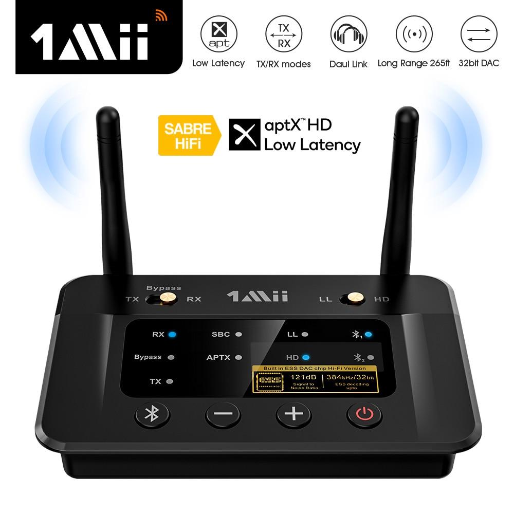 1Mii B03Pro Bluetooth-compatib Transmitter Receiver aptX LL HD CSR8675 HiFi 32bit Aux Bluetooth DAC Adapter for TV PC Headphones