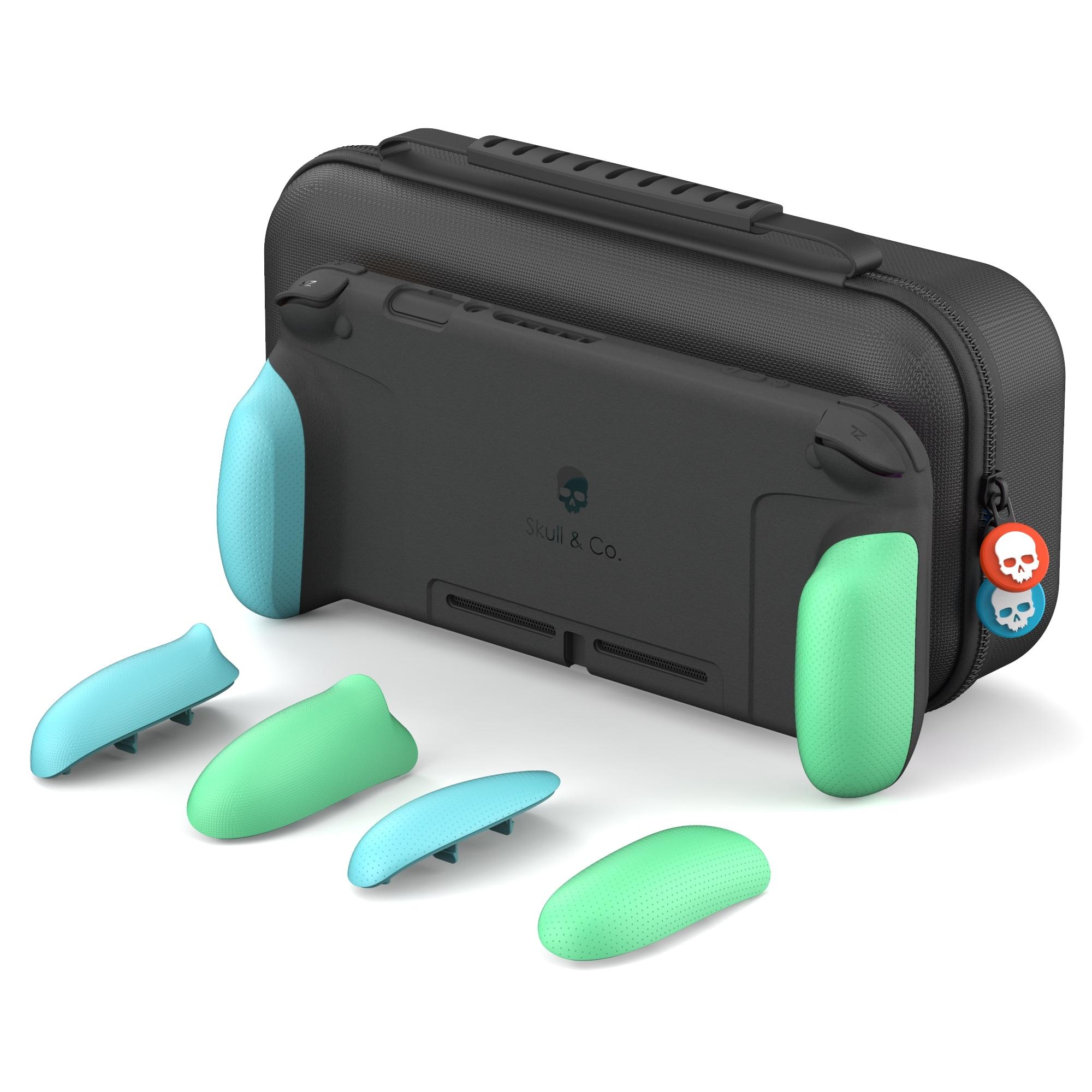 Funda protectora Skull & Co. Animal Crossing GripCase con empuñaduras reemplazables MaxCarry para Nintendo Switch