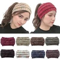 new multicolor knitted headband for women girl hair accessories headwear casual elastic hair band turban bohemia style headbands