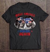 Men Funny T Shirt Fashion tshirt Make America Drunk Again Benjamin Franklin & Abraham Lincoln Version Women t-shirt