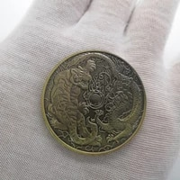 chinese lucky coins dragon and tiger luck mascot bronze commemorative coin collection souvenirs and gifts