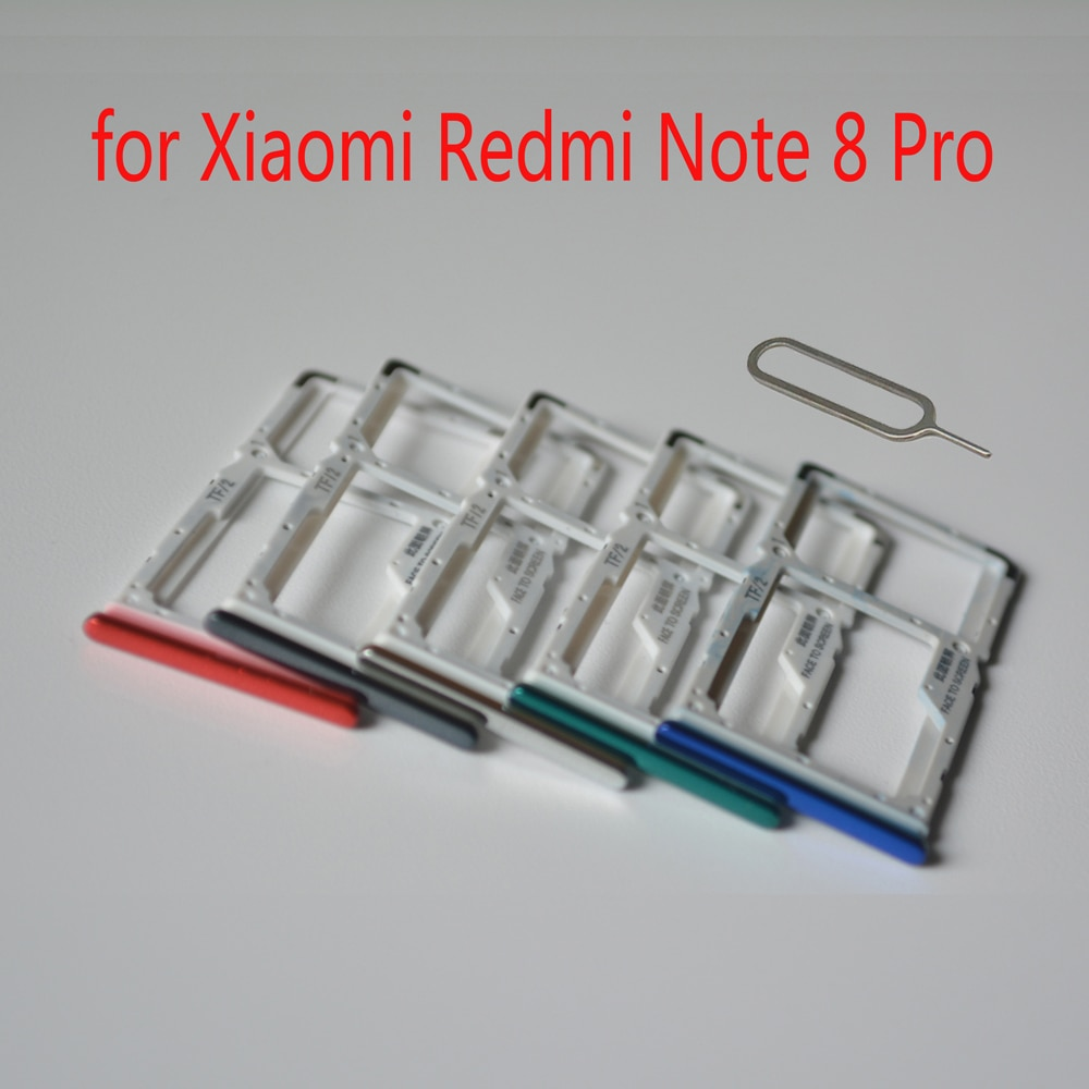 Sim Card Holder For Xiaomi Redmi Note 8 Pro Original Mobile Phone Housing New Micro SD Card Tray Ada