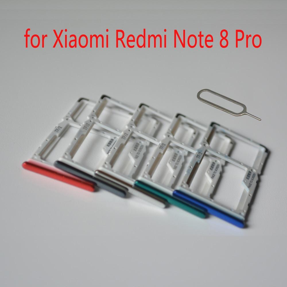 Sim держатель для карт для Xiaomi Redmi Note 8 Pro оригинальный корпус мобильного телефона новый лоток для карт памяти Micro SD адаптер слот + Инструменты