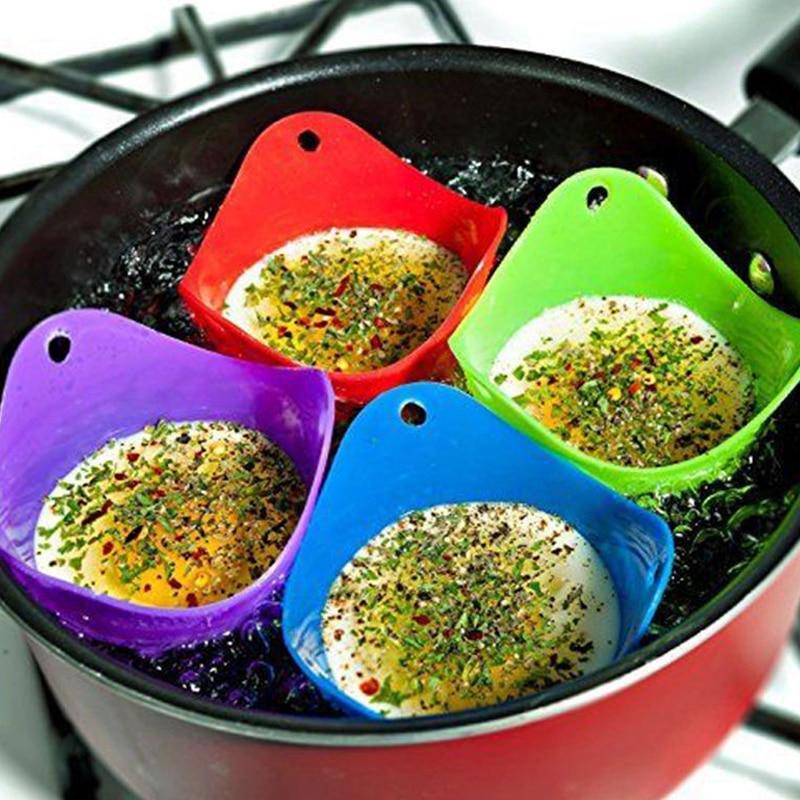 Moldes de silicona para escalfador de huevos, Accesorios para Cocina, 4 Uds.