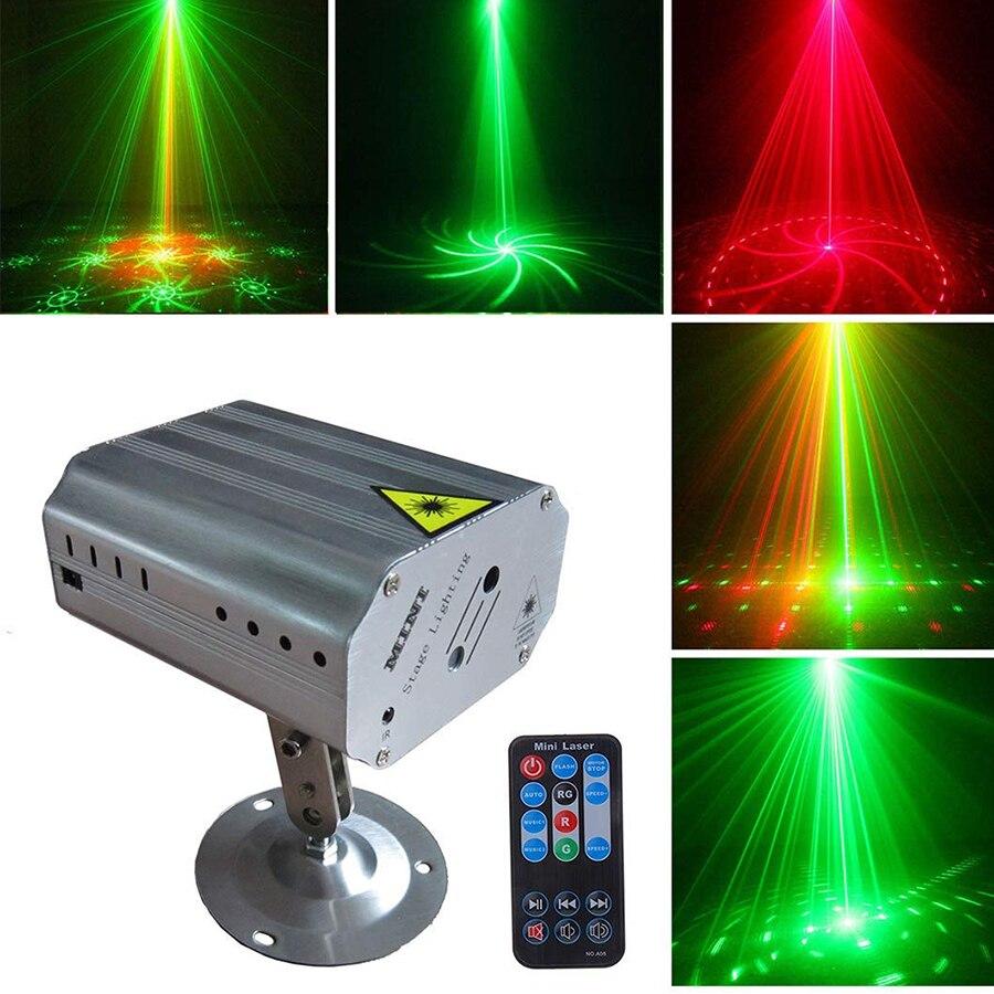 24 узора светодиодный лазерный проектор лазерный диско свет Голосовая активация Рождество DJ дискотека клуб свет сценический эффект Освещен...