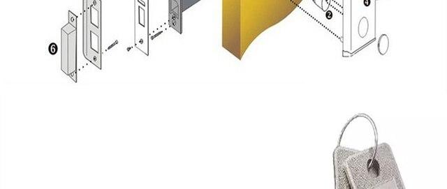 Умный индукционный rfid Электронный дверной замок Космический