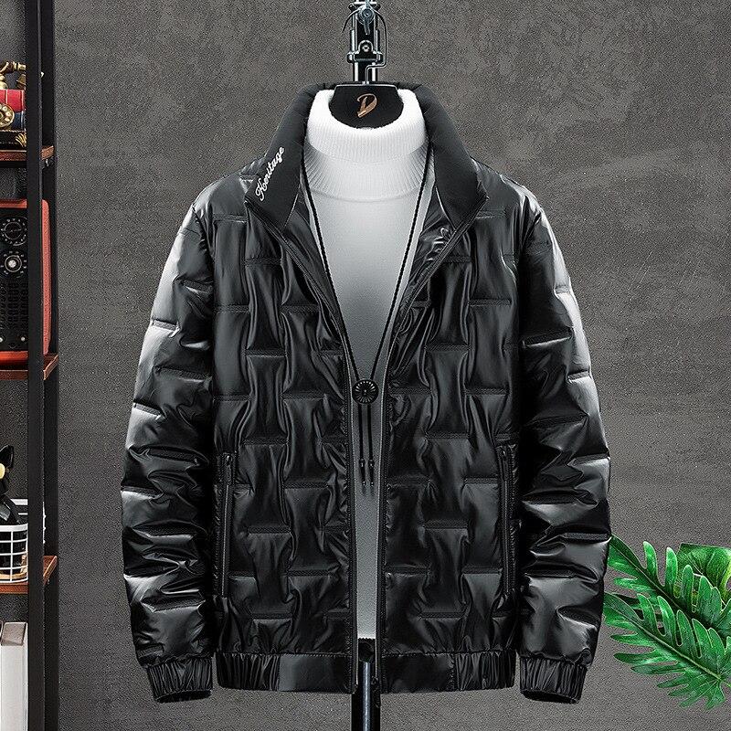 Горячая новинка 2021 года, зимние модные мужские куртки и пальто, мужские плотные теплые модные яркие мужские зимние куртки с воротником-стой...