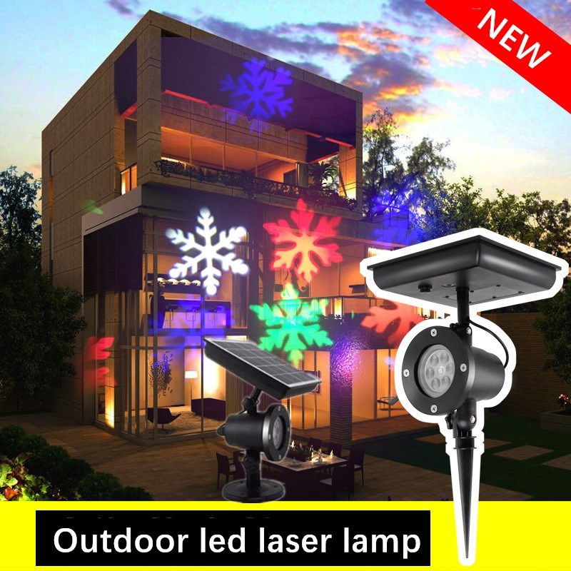 outdoor waterproof led stage light garden tree moving laser projector christmas party home decoration effect lamp Solar powered LED Laser Projector Moving Snowflake Disco Light Waterproof Christmas Stage Lights Outdoor Garden Landscape Lamp