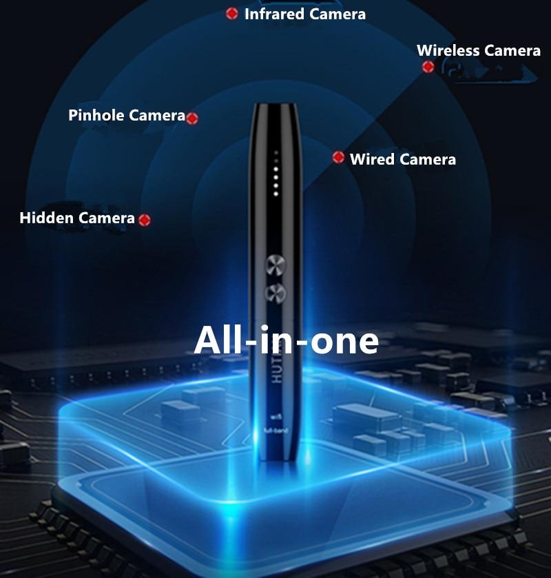 NewAnti Spy Camera Detector Pen Wireless RF Signal Eavesdropping Pinhole Hidden Cam Audio Bug GSM GPS Wiretapping Device Scanner enlarge