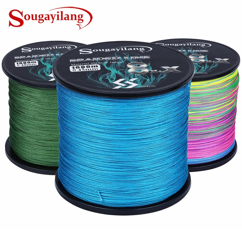 Sougayilang 300M 500M 1000M Strong PE Fishing Line 9 Strands Braided Fishing Line Multifilament Durable Fishing Line Pesca sougayilang 300m 4 strands braided fishing line 0 6 8 0 pe fishing line 6 3 32 8kg multifilament fishing line smooth pesca