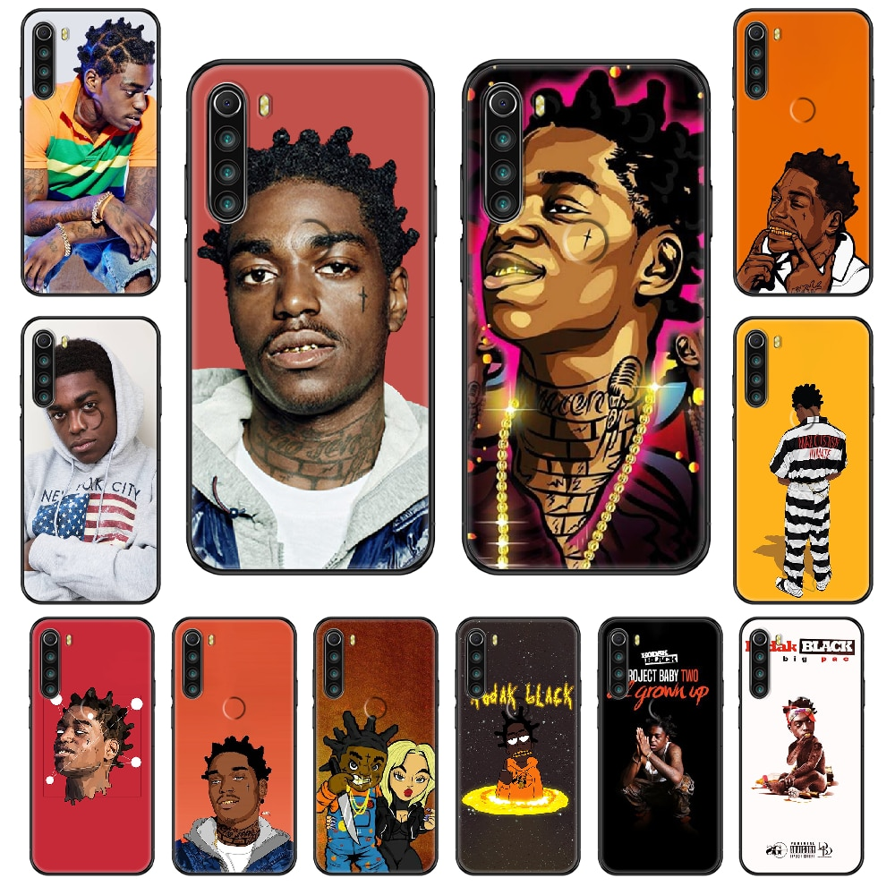 Rapper Kodak Black Phone case For Xiaomi Redmi Note S2 4 5 6 7 8 A S X Plus Pro black painting coque