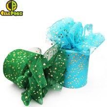 6cm 8cm Star Tulle Roll 25Yards Glitter Confetti Tulle Mesh Ribbon Spool Tutu Pom Squine Tulle DIY Wedding Birthday Decoration