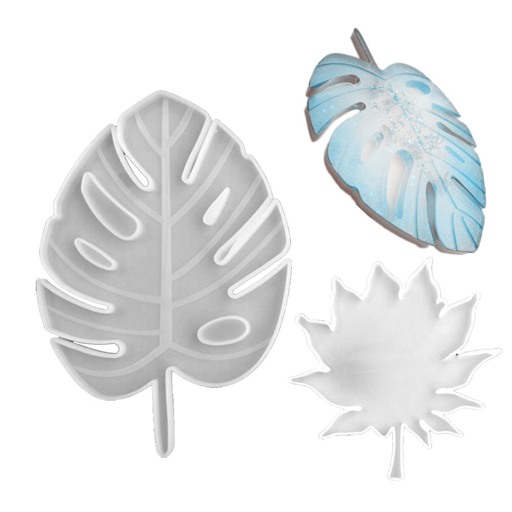 New Maple Leaf Silicone Molds Palm Epoxy Resin Molds Cup Holder Mat Pad Casting Coaster DIY Coasters