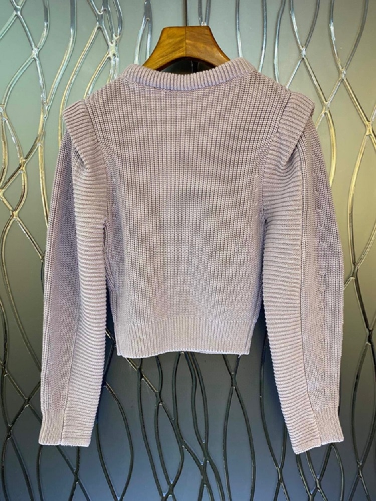 High Quality New Sweaters 2021 Autumn Winter Casual Pullovers Women White Lace Patchwork Long Sleeve Soft Knitted Jumpers enlarge