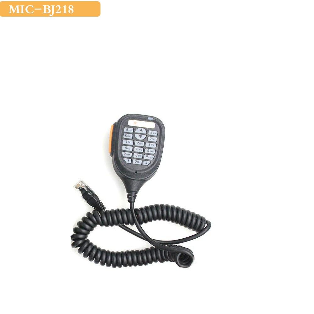 Altavoz BJ-218 Baojie micrófono para Baojie BJ-218 25W banda Dual Mini Radio móvil coche Radio bidireccional Walkie Talkie