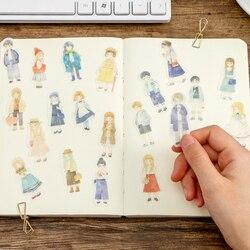 20 jogos/lote kawaii papelaria adesivos dos desenhos animados menina menino diário planejador decorativo móvel adesivos scrapbooking diy artesanato adesivos