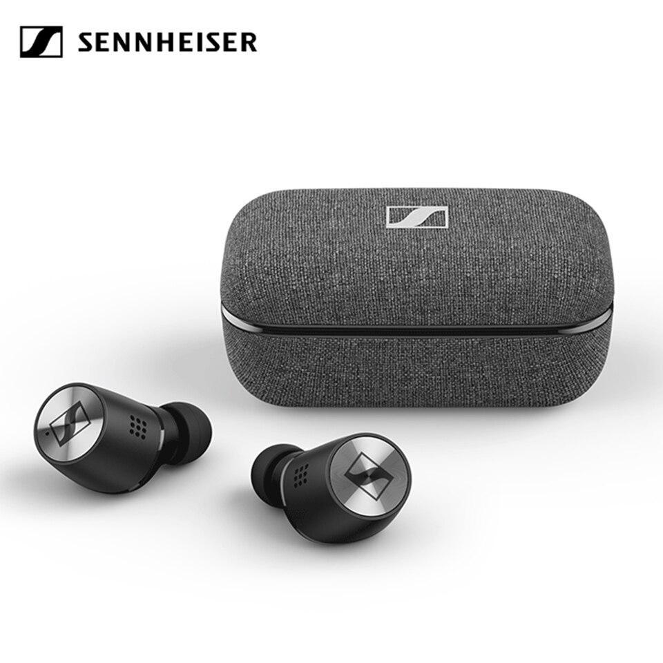 Verdadeiro sem Fio Fones de Ouvido Sennheiser Momentum Bluetooth Alta Fidelidade Estéreo Isolamento Ruído Fone Esporte Anc Controle Toque 2 5.1