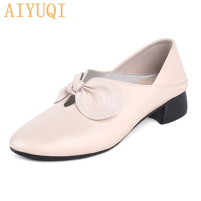 AIYUQI Genuine Leather Loafers Women Big Size 42 43 Woman Autumn Loafers Cowhide Casual Shoes Women