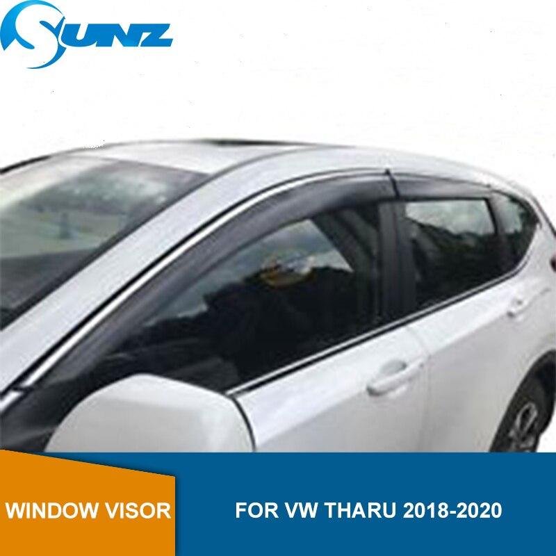 Smoke Side Window Deflectors For VW Tharu 2018 2019 2020 Window Visor Vent Shades Sun Rain Deflector Guard SUNZ