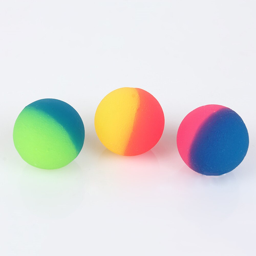 3 шт./компл. разноцветные Игрушечные Мячи смешанный упругий шар Детские эластичные резиновые детские уличные надувные игрушки