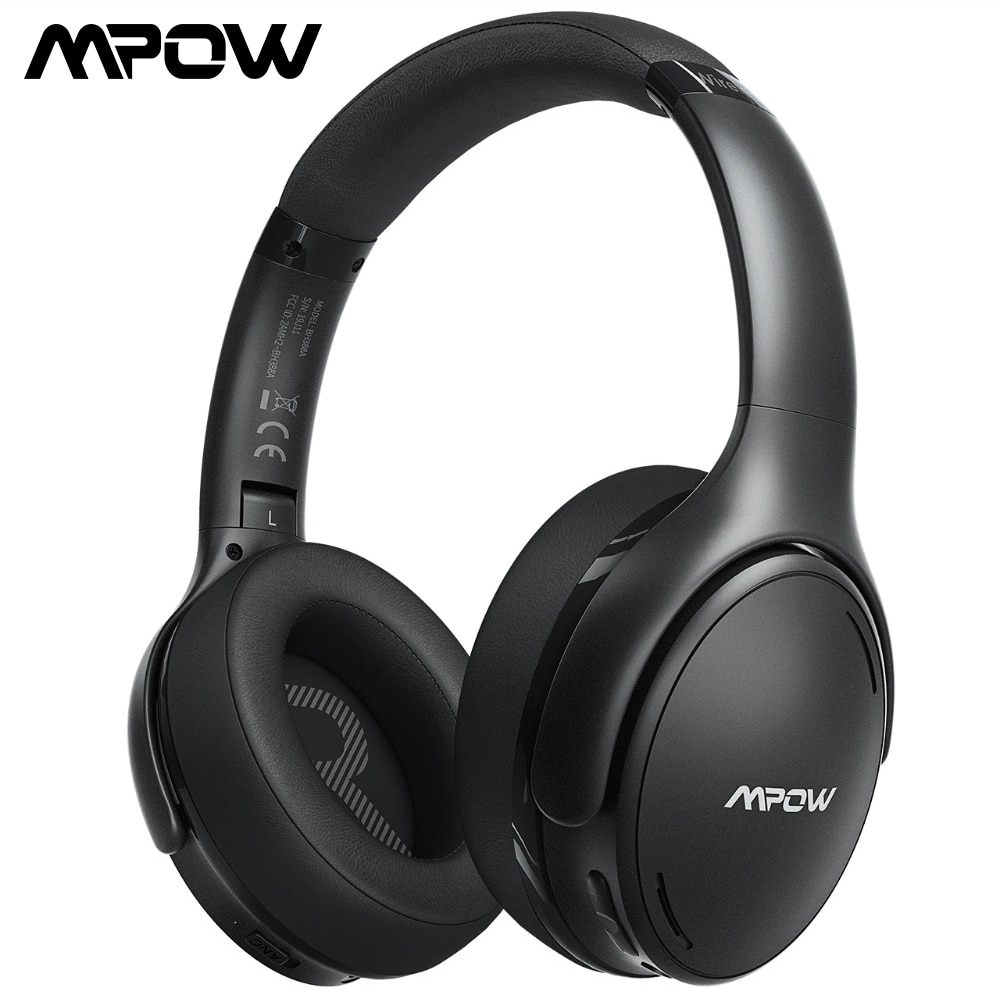 Mpow H19 IPO سماعة لاسلكية تعمل بالبلوتوث سماعات مطورة CVC 8.0 إلغاء الضوضاء سماعة مع BT 5.0 & 30H وقت اللعب للهواتف الذكية