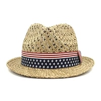 sun hat panama women summer beach straw flag ribbon breathable holiday uv protection outdoor cap accessory for lady