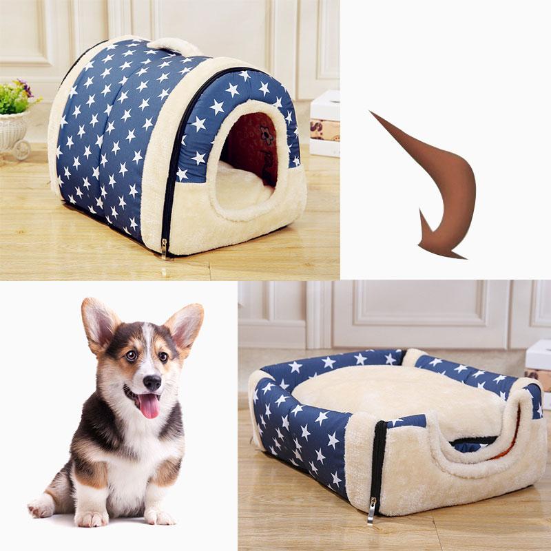 Abnehmbare Waschbar Haustier Hund Haus Katze Haus Matte Katzenstreu Nette Katze Haus Kleine Mittelgroße Hund Gab Hund bett Faul Tier Bett