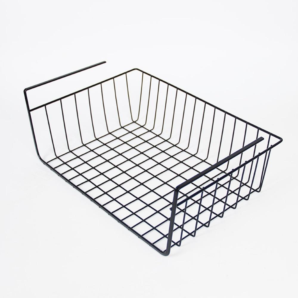 Dormitory Artifact Student Creative Cabinet Hanging Basket Rack of Iron Art Collection Board Hanging Basket (Black)
