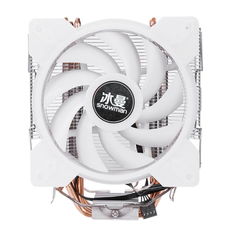 Enfriador de ventilador de CPU LED a todo Color de muñeco de nieve, tubos de calor de contacto directo Master 4, sistema de refrigeración con torre de congelación, ventilador de refrigeración de CPU