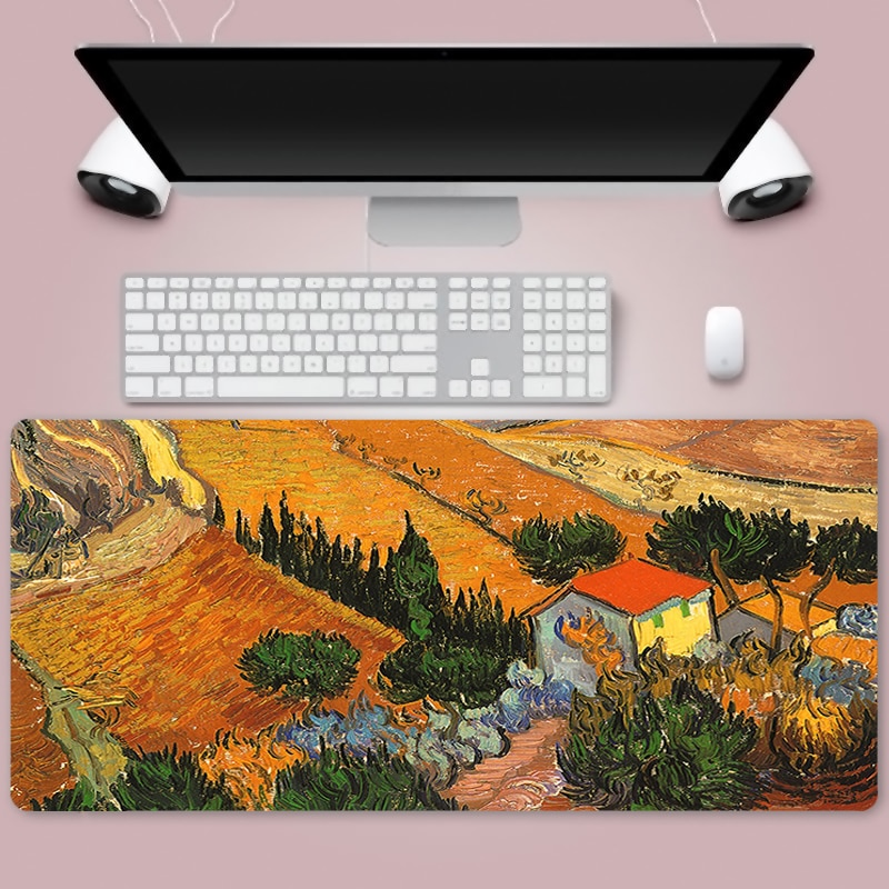 van gogh Large 900x400mm XL Laptop Mouse Pad Notbook Computer Pc Keyboard Gaming Mousepad Gamer Play