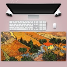 van gogh Large 900x400mm XL Laptop Mouse Pad Notbook Computer Pc Keyboard Gaming Mousepad Gamer Play