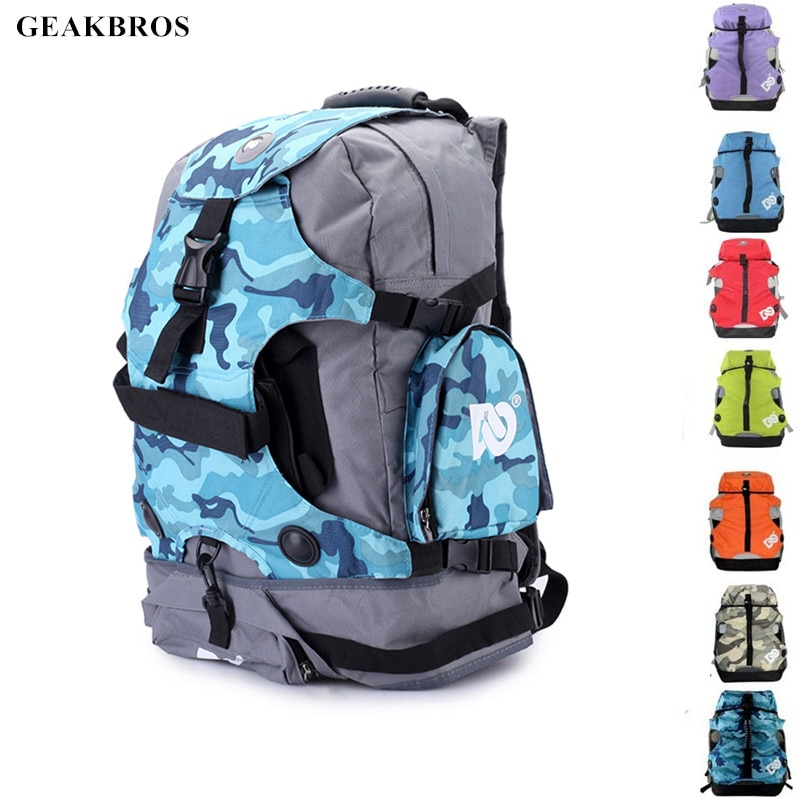 2 Size Roller Skates Backpack Men Inline Skates Skating Shoes Boots Carry Bag Kid Ice Skates Storage Knapsack Outdoor Sports Bag