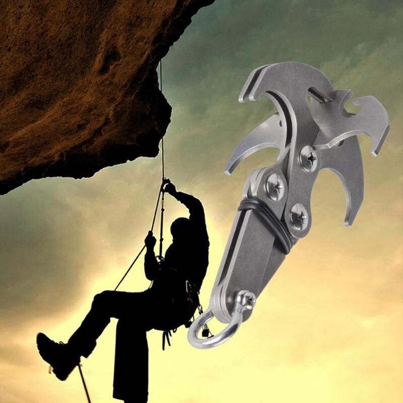 Składany gravity grab hook outdoor wspinaczka skałkowa rescue claw survival alpinizm hook tool wielofunkcyjna stal nierdzewna