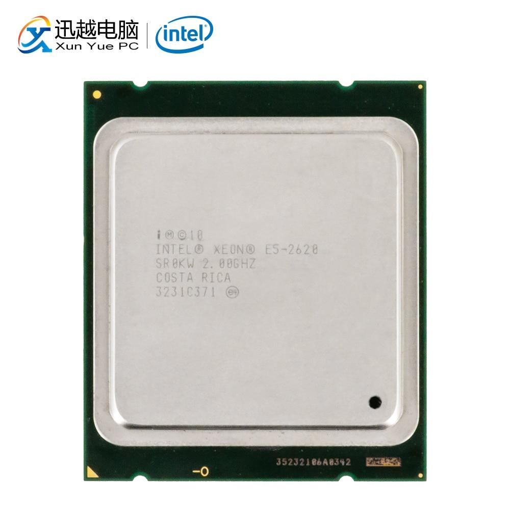 Intel Xeon 2620 настольный процессор 6 ядер 2 ГГц 15 Мб кэш L3 LGA 2011 сервер б/у ЦП