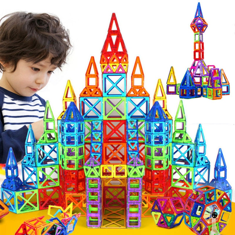 Mini klocki magnetyczne DIY budynek pojedyncze cegły projektant zestaw budowa ABS magnes model edukacyjne zabawki dla dzieci dzieci