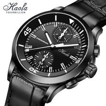Haofa Pilot Automatic Chronograph Watch For Men Mechancial Sapphire 40mm Aviator Movement Watches Me