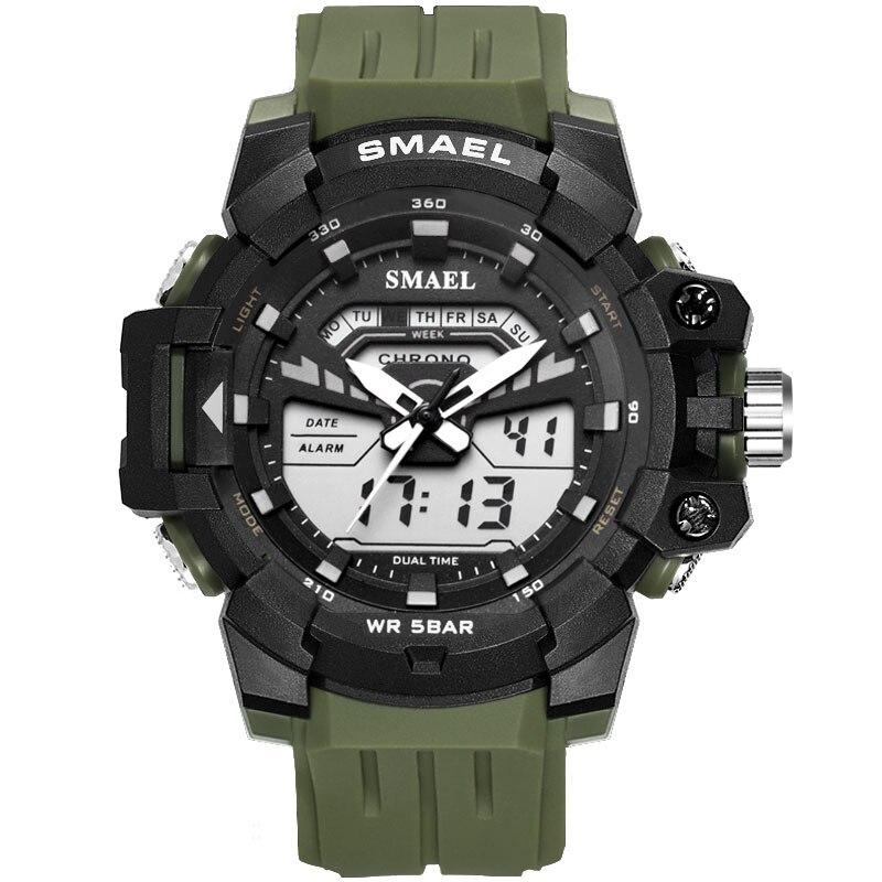 2020 New SMAEL Watch Men Waterproof Led Sports S SHOCK Digital Military Watches Dual Display Quartz Watches zegarek meski reloj