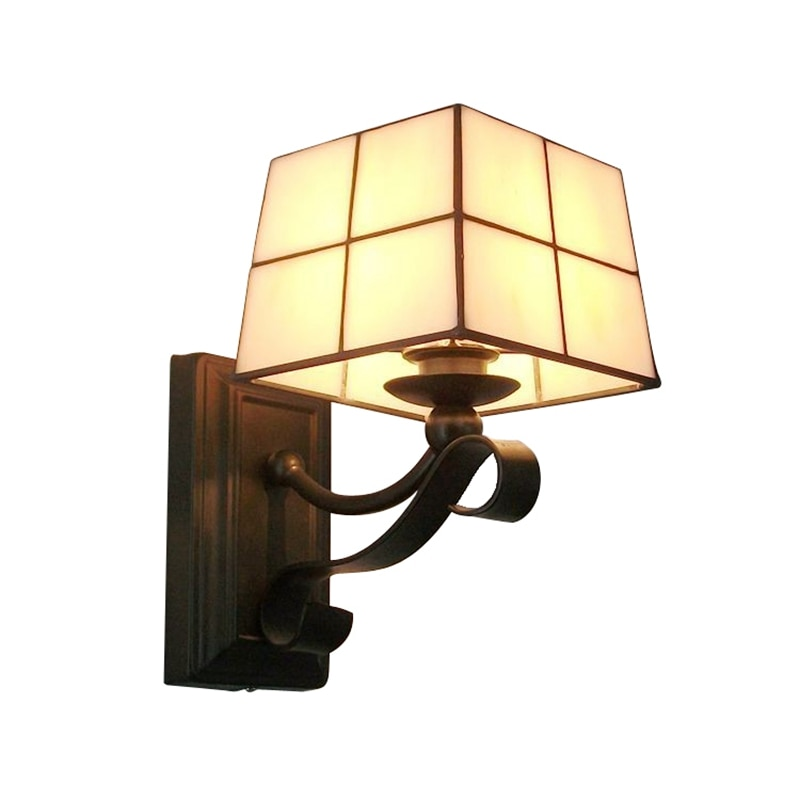 Small Wall Lamp Simple And Fashionable Glass Living Room Wall Lamp Bar Corridor Bedroom Bedside Lighting