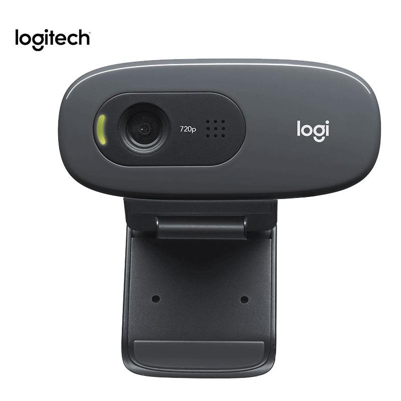 100% оригинальная веб-камера Logitech C270 HD 720p HD встроенный микрофон веб-камера USB2.0 веб-камера для ПК веб-чата камера