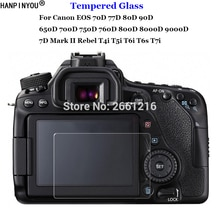 Für Canon EOS 70D 77D 80D 90D 650D 700D 750D 760D 800D 8000D 9000D 6D 7D Mark II Gehärtetem Glas kamera LCD Screen Protector Film