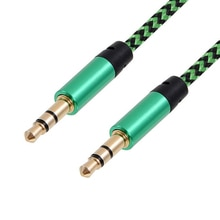 Multi-color Nylon Car Aux Audio Cable Male To Male 3.5 Mm Plug For Smart Phone Samsung Car Headphone