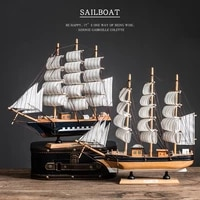 mediterranean style holz sailboat model home room decoration accessories creative sailboat decoration birthday gift
