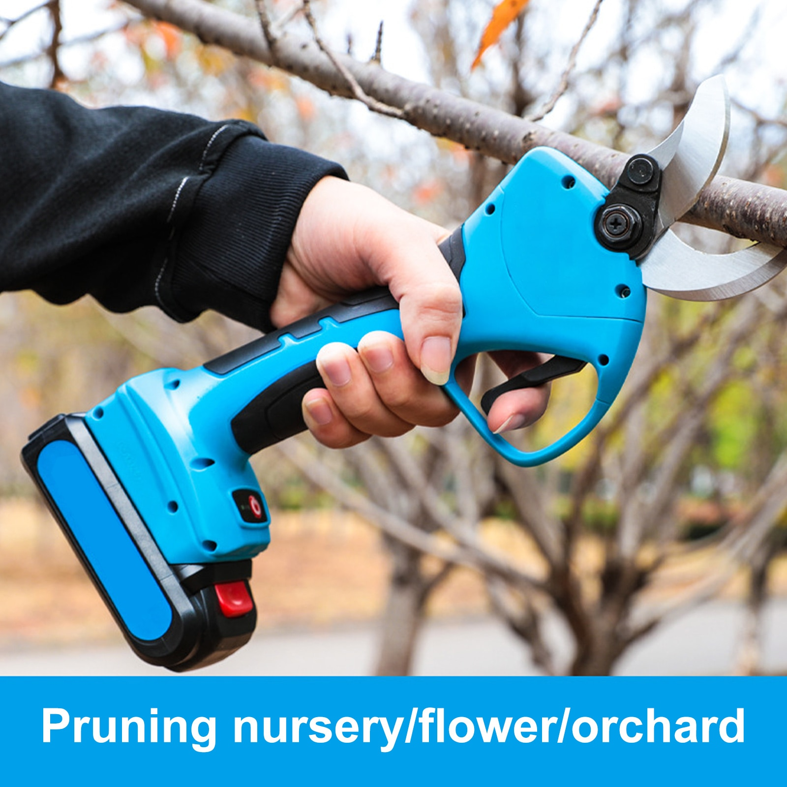 Перезаряжаемые электрические ножницы для обрезки, секатор с регулируемым диаметром, электрические ножницы для ветвей с 2 литиевыми батарея...