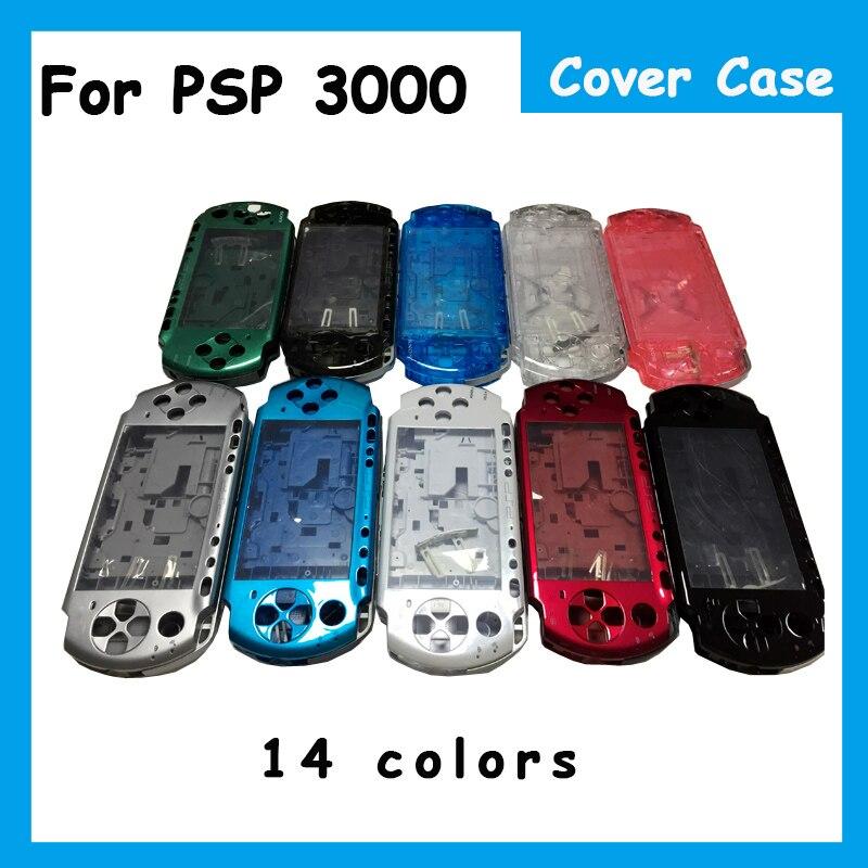 Cor Para PSP3000 14 PSP 3000 Shell Game Console shell habitação completa substituição da tampa do caso com botões kit para Sony PSP 3000