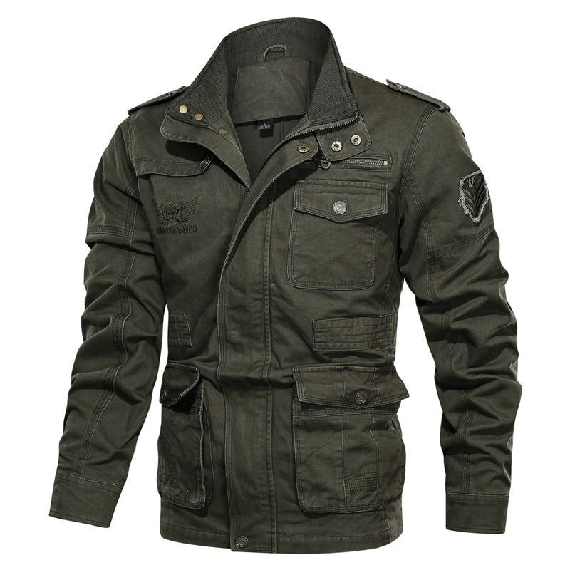 Хлопковая куртка в стиле милитари для мужчин 2019 на весну и осень пальто солдат MA1 Стиль армейские куртки мужские Брендовые куртки размера пл...