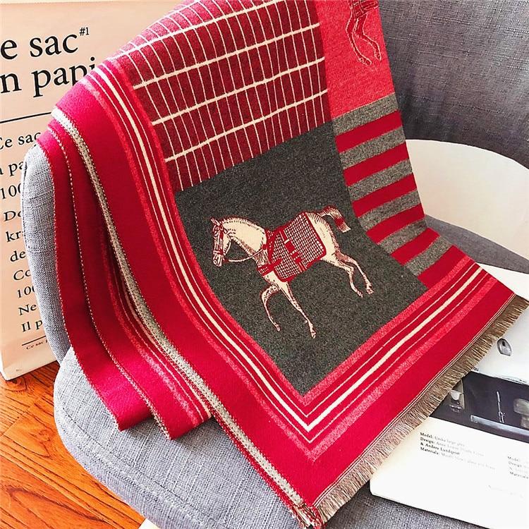 2019 otoño e invierno bufanda de lana de cachemir para mujer bufanda...