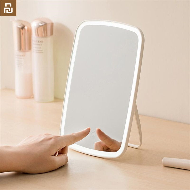 Original Youpin Jordan judy Intelligent portable makeup mirror desktop led light portable folding li