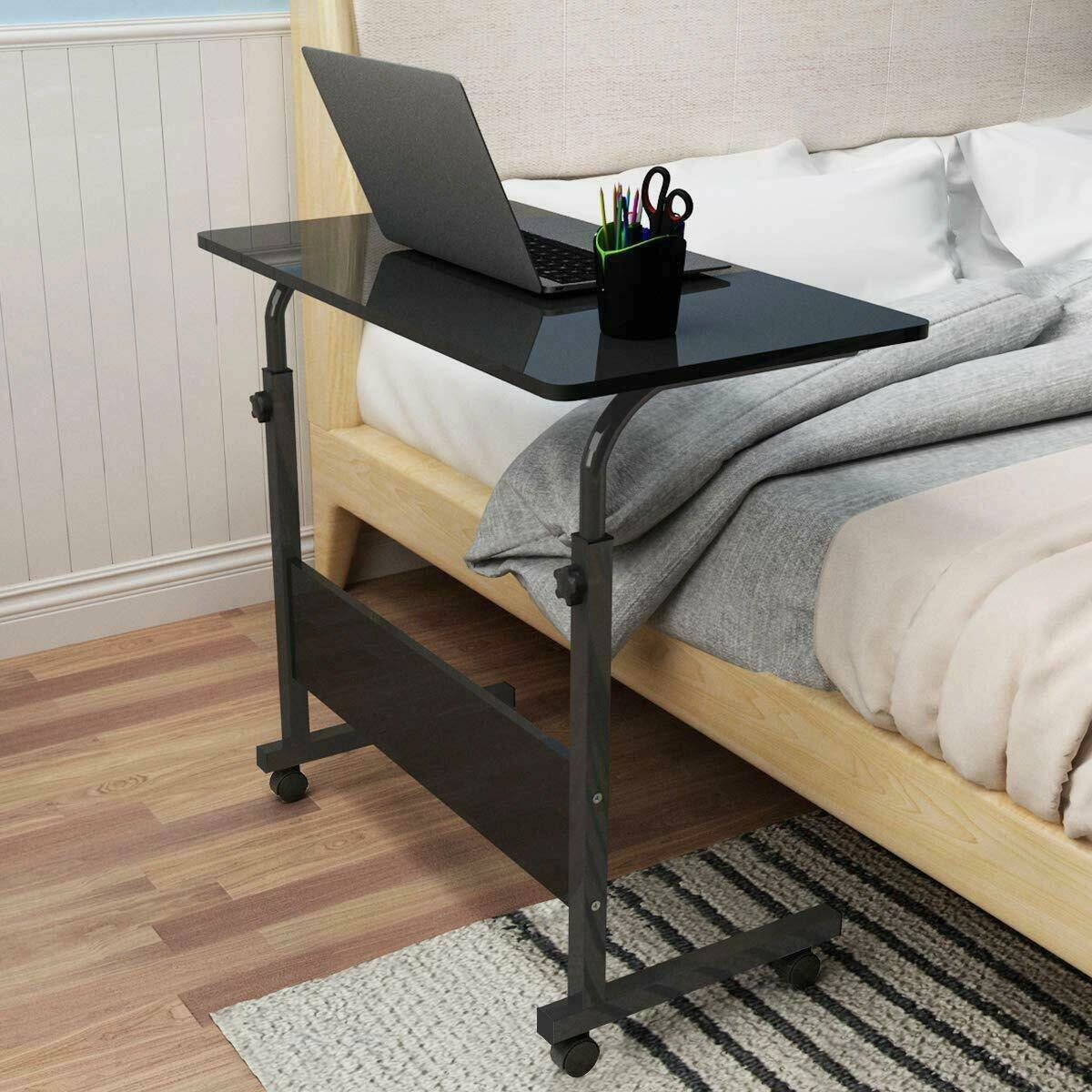 Adjustable Movable Laptop Stand Desk Portable Laptop Table Computer Desk Notebook Laptop Desk Can be Lifted Bed Side Table